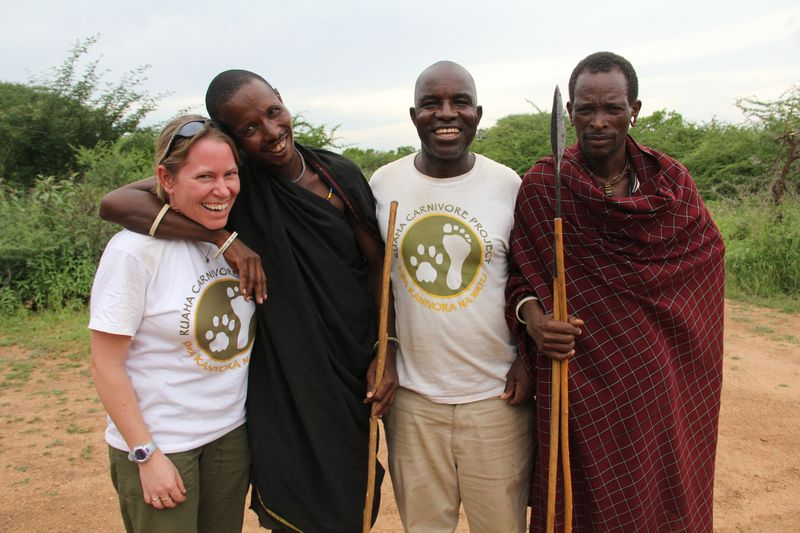 Amy and Barabaig warriors_Ruaha Tanzania
